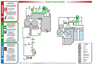 Plan d'évacuation incendie Lyon